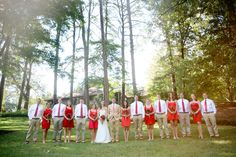 Country Chic Wedding Party