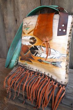 HD West custom painted leather bag. - #CowgirlChic