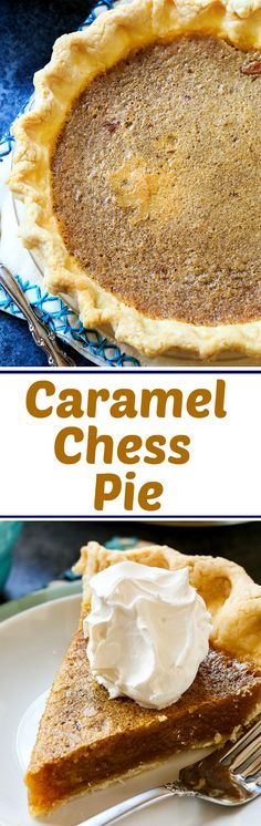 Chess Pie Caramel Chess pie is a traditional chess pie with a caramel flavor. Great for Thanksgiving.Caramel Chess pie is a traditional chess pie with a caramel flavor. Great for Thanksgiving. Yummy Treats, Delicious Desserts, Sweet Treats, Yummy Food, Easy Homemade Desserts, Desserts To Make, Health Desserts, Pie Recipes, Baking Recipes