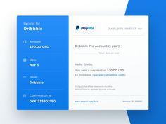 Day 17 of #dailyui challenge I made a quick redesign of the email receipt you get from paypal   Remember to press L for some support :). If you like UX, design, or design thinking, check out theuxblog.com