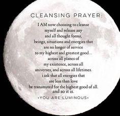 Energy •~• Cleansing Prayer