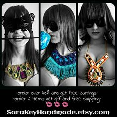 Special offer!!!  SaraKeyHandmade.etsy.com  #special #specialoffer #giveaway #sale #offer #gift #giftguide #handmadejewelry #crafts #unique #trendy #modern #unusual #sarakey #necklace #earrings #limitedtime #hurryup #instadaily #style #blogger #fashion #designer #PicsArt