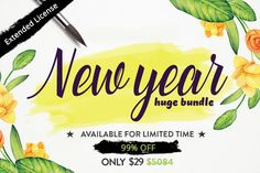 New year huge bundle by thefancydeal on Creative Market