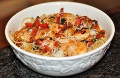 Garlic Butter Spaghetti & Chicken Recipe