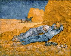"arttrataart: ""The Siesta, Vincent van Gogh """