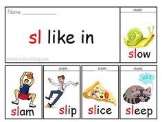sl words Phonics Flip Book - FREE & PRINTABLE