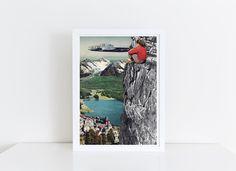 """Collage """"AUSSICHT"""" , Fine Art Print von siebensachen auf DaWanda.com"""