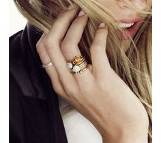 Pave Ring 18ct Gold Plated Vermeil on Sterling Silver Diamond | Monica Vinader
