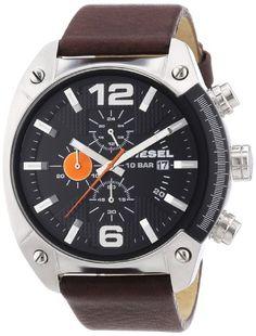 19f76d4b967 Diesel DZ4204 – Reloj analógico de cuarzo para hombre con correa de piel