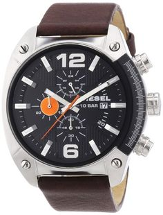 Diesel DZ4204 – Reloj analógico de cuarzo para hombre con correa de piel, color marrón | Your #1 Source for Watches and Accessories