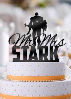 Personalized Iron Man holding Bride with Name Wedding Cake Topper Marvel Wedding Theme, Avengers Wedding, Iron Man Wedding, Our Wedding, Dream Wedding, Wedding Reception, Cheap Wedding Decorations, Wedding Centerpieces, Wedding Cake Toppers