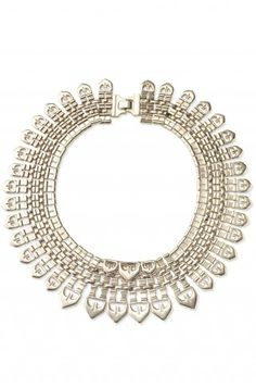 """Dramatic cleopatra style """"Fatima"""" necklace -- amazing w/a simple strapless wedding gown!"""