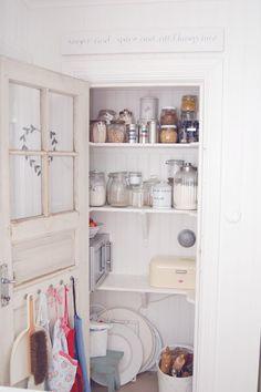 closet pantry with old door