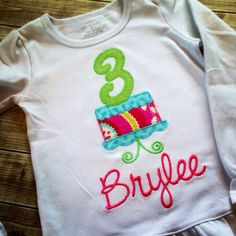 Birthday cake party shirt  by ahSEWcute on Etsy