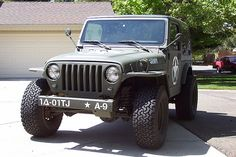 "Im loveing the ""New Vintage"" look to this 2001 tj jeep wrangler military project.."