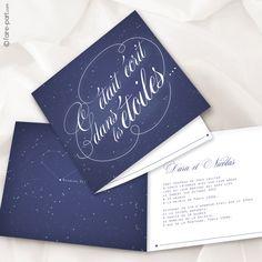 """Faire part mariage """"Nuit étoilée"""""""