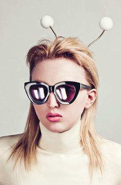 Karen Walker! An amazing New Zealand designer who is known for her qwerky casual wear. Love these glasses!
