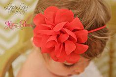15% off UR order.Baby Girl Headband..Newborn Headband..Hot Pink Flower Headband.Pink Baby Headband..Christmas headband.Baby Headbands. $8.95, via Etsy.