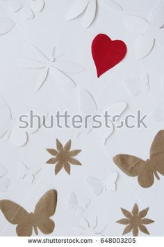 Bright background with butterfly, dragonflies, flowers and leaves. And place for banner text