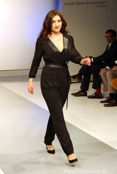 My favorite jumpsuit on the runway. Guido Maria Kretschmer plus size jumpsuit.