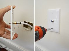 Use a simple wall plate to hide a TV cable instead of leaving it just hanging out of the wall like they usually leave it.
