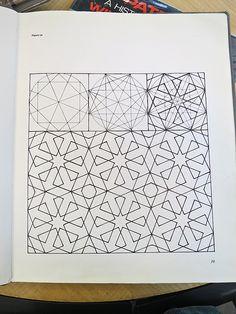 Dibujos geométricos del arte islámico. M imágenes en https://www.flickr.com/photos/sszeto/sets/72157632651254149 #teselación #geometría