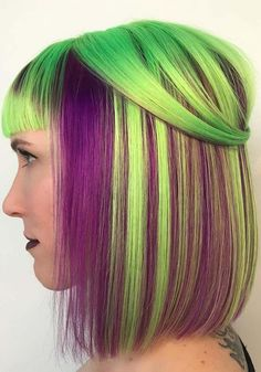 Explore the ideas of best hair colors to sport in 2018? Here we've compiled best styles of purple and green hair colors to use in 2018. Elegant styles of purple to green colors are no doubt amazing trends for ladies to sport. These are pretty and cute ideas of hair colors if you want to make you look totally unique.