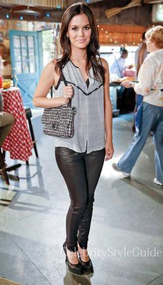 Seen on Celebrity Style Guide: Hart of Dixie Fashion: Rachel Bilson as Zoe Hart wore the A.L.C. Hamilton Print Embellished Silk Top on on Hart of Dixie episode 'I Run To You'
