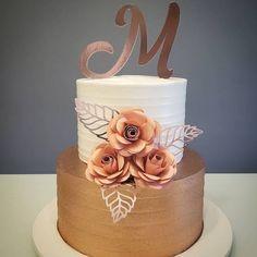 Beautiful Birthday Cakes, Birthday Cakes For Women, Beautiful Cakes, Bolo Tumblr, Art Deco Cake, Cake Cafe, Creative Wedding Cakes, Gold Cake, New Cake