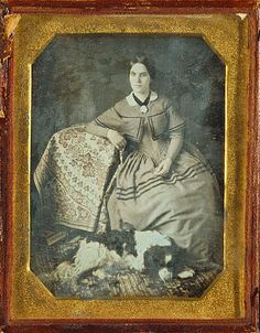 Portrait of a Seated Young Woman and Dog (Getty Museum) American, 1845 - 1847 Daguerreotype