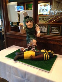 Sparty cake made by Charm City Cakes in Baltimore, MD