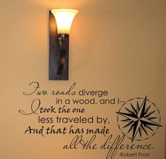 Two Roads Diverge | Wall Decals - Trading Phrases