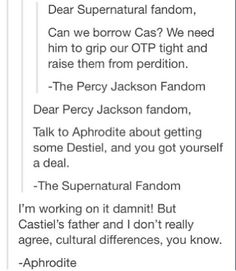 PJ Fandom and SPN Fandom on Tumblr | You HAVE to love this!!