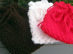 Small Crochet Gift Bag