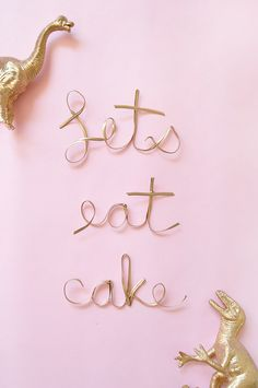 How to make your own calligraphy cake toppers.