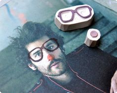 Make me droll Clown hand carved rubber stamps by MemiTheRainbow, $22.00