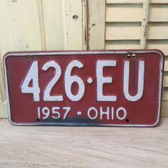 Vintage 1957 Ohio License Plate by oZdOinGItagaiN on Etsy, $15.00