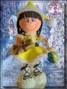 navideña Foam Crafts, Crafts To Do, Diy Crafts, Christmas Time, Christmas Ornaments, Sewing Dolls, Fairy Dolls, Elves, Princess Peach