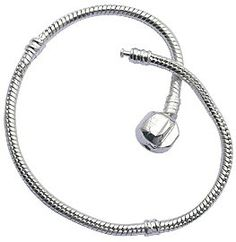 Bracelet for Pandora Beads and charms by GlitZ JewelZ ? - Silver plated - available in many sizes 18 to 22 cms $6.99 - $16.25