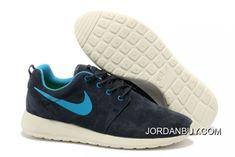 http://www.jordanbuy.com/nike-roshe-run-mens-black-blue-white-suede.html NIKE ROSHE RUN MENS BLACK BLUE WHITE SUEDE Only $85.00 , Free Shipping!