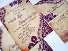 Elegant Lace Wedding invitations  Custom Lace by DesignedWithAmore, $2.00