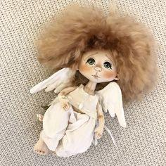 Волшебные создания: ангелы в работах мастеров-кукольников - Ярмарка Мастеров - ручная работа, handmade Tiny Dolls, Ooak Dolls, Cute Dolls, Handmade Angels, Handmade Toys, African Crafts, Angel Crafts, Felt Baby, Sewing Dolls
