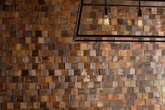 up-cycled and re-claimed handmade wood wall tiles from Everitt & Schilling Tile