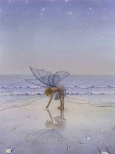 Little fairy at the beach.