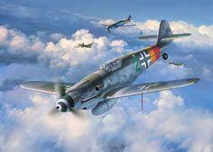 Messerschmitt Bf 109G-10 'Green 2' by Egbert Friedl