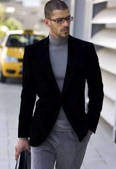 Sometimes all you need is a turtle neck and a blazer..