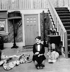 """Charlie Chaplin in """"One A.M."""" (1916, dir. Charlie Chaplin)  This is one of my favorite films of his."""