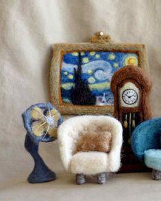 Winnie Chui's needle-felted wool furniture