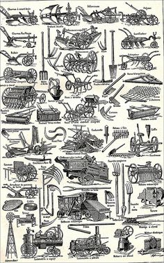 1922 Larousse universel illustration - agriculture machinery