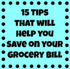 Frugal Mom Eh!: 15 tips that will help you save on your Grocery Bill